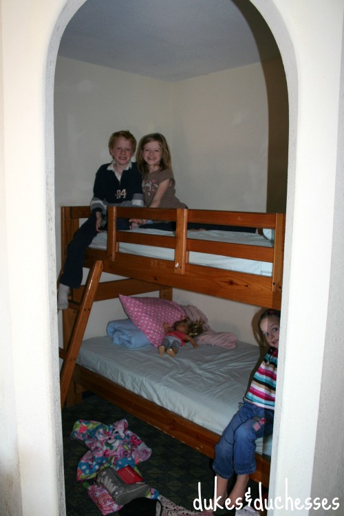 bunk bed nook at castle rock resort