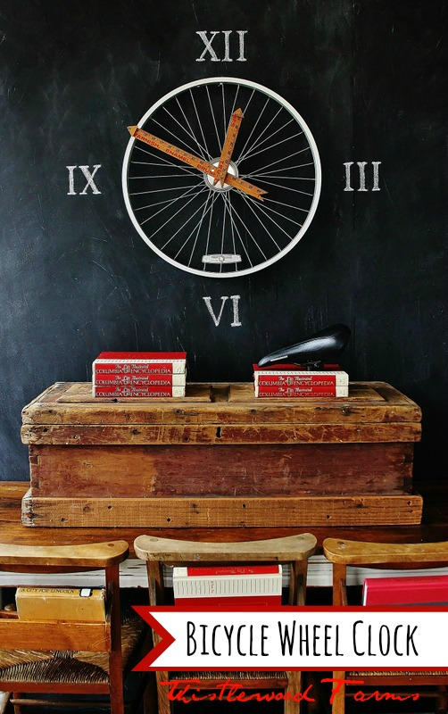 clock bicycle wheel