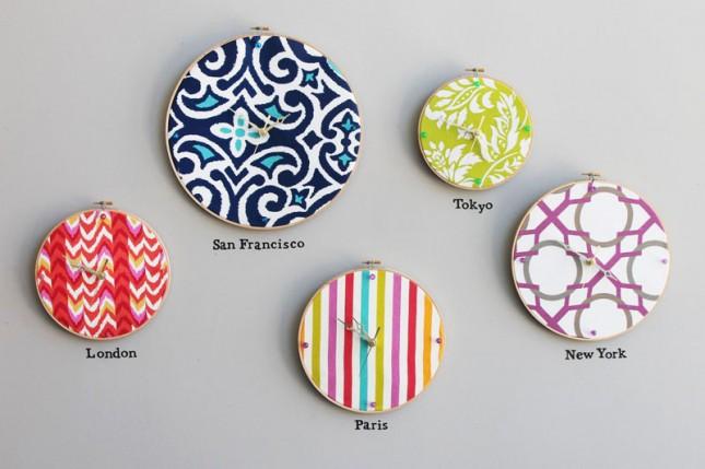 clock embroidery hoop