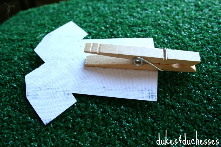 clothespin for clipping food labels