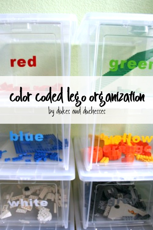 color coded lego organization