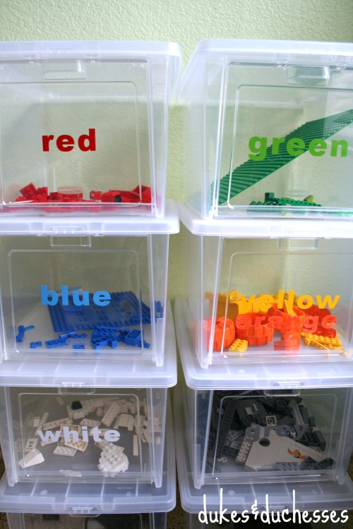 color coded lego storage