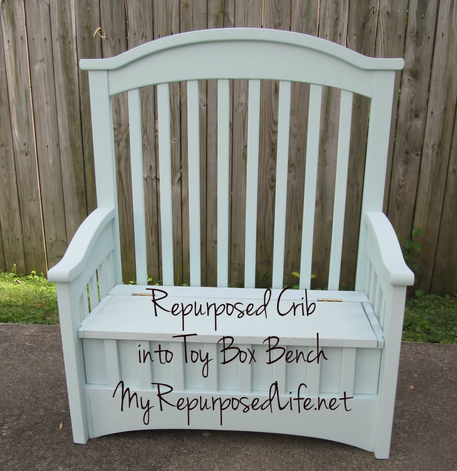 An old crib makes a sweet reading nook , especially when paired with ...
