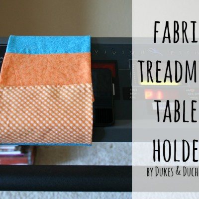 Fabric Treadmill Tablet Holder