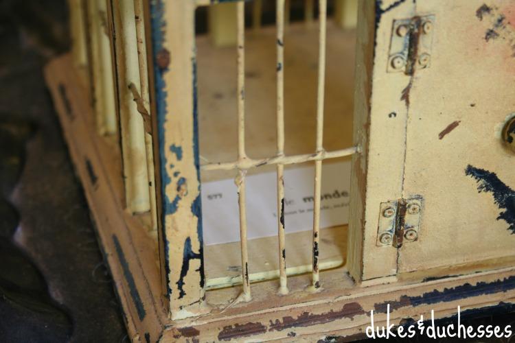 flash card inside birdhouse