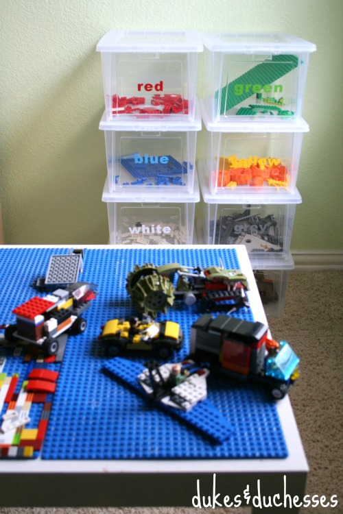 Color Coded Lego Organization Dukes And Duchesses