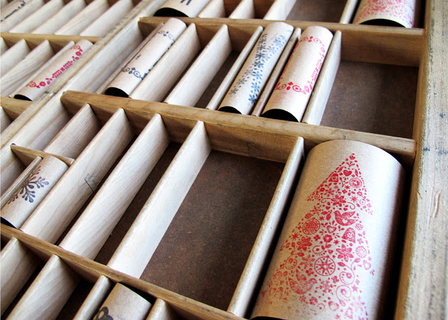letterpress advent calendar