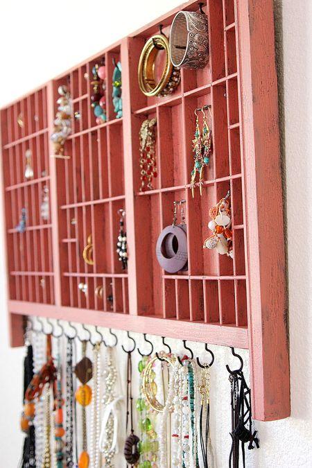 letterpress jewelry holder