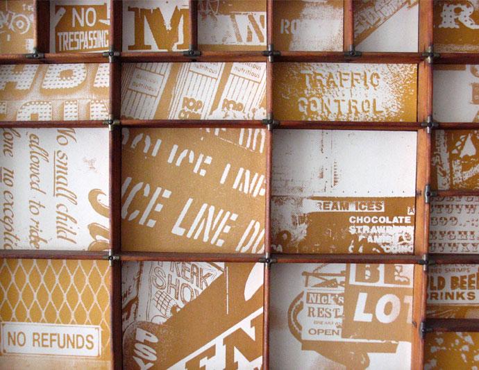 letterpress wall art