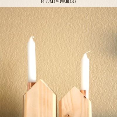 Scandinavian-Style Candlesticks