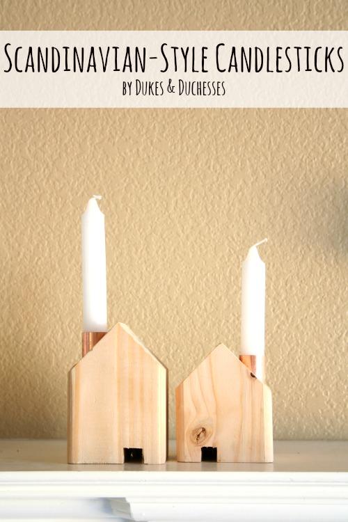 scandinavian style candlesticks