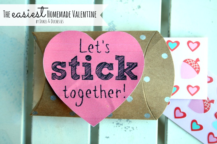 easy homemade sticker valentine
