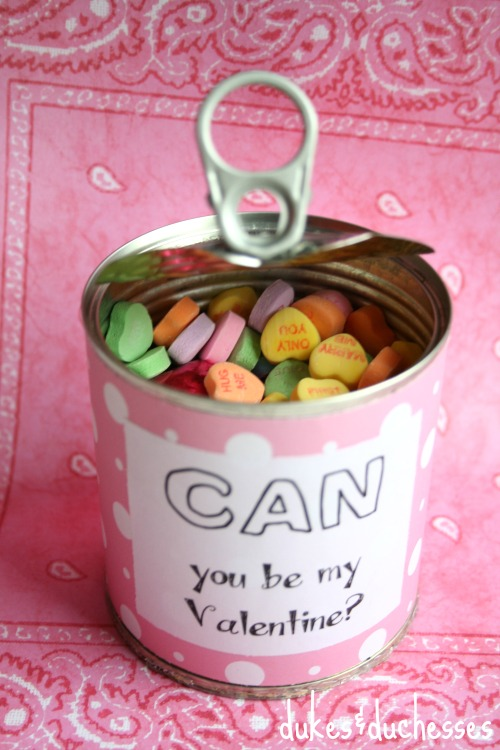 valentine in a can