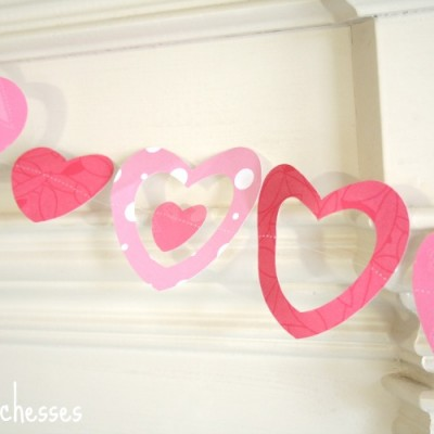A Stitched Heart Garland