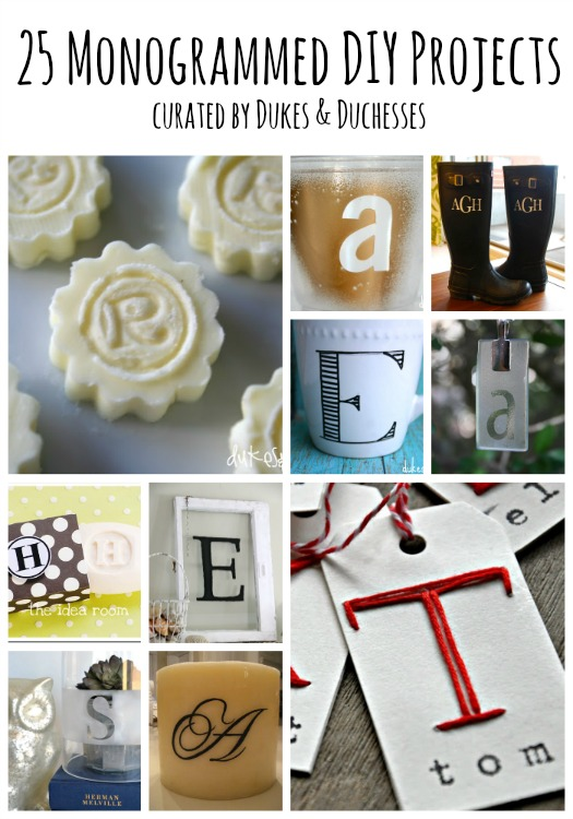25 monogrammed diy projects