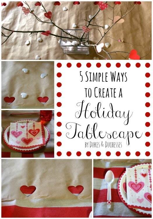 5 simple ways to create a holiday tablescape