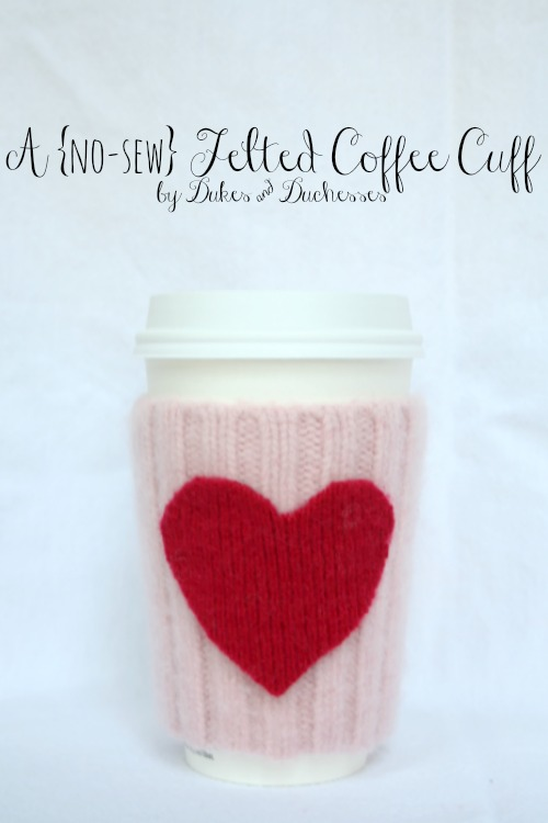 a no-sew felted coffee cuff
