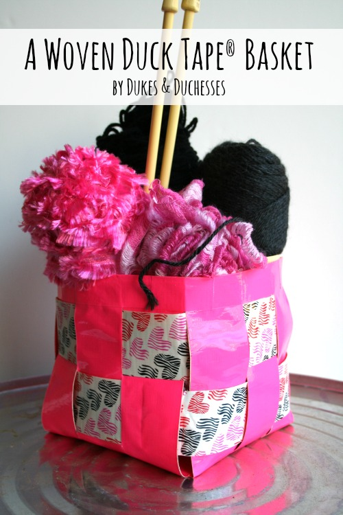 woven duct tape basket