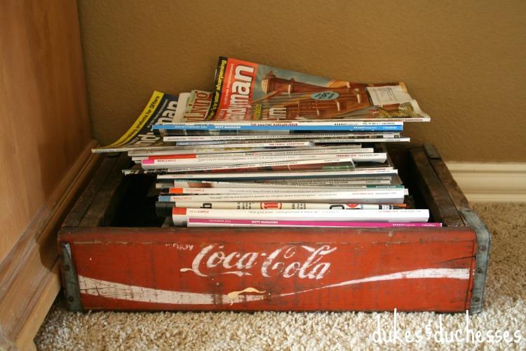 coke crate magazine holder