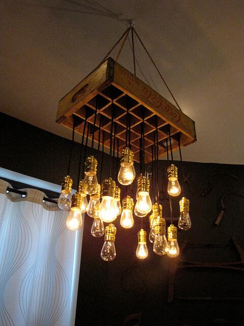 crate chandelier