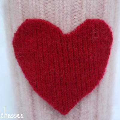A Felted Coffee Cuff for Valentine's Day