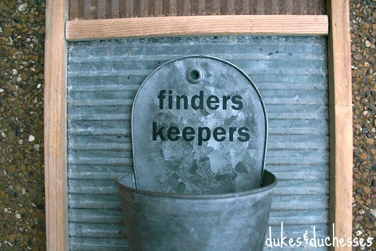 finders keepers bucket
