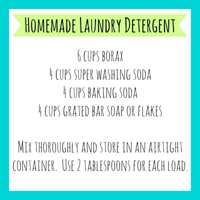 Homemade Laundry Detergent Printable