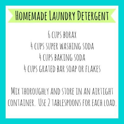 Homemade Laundry Detergent Printable