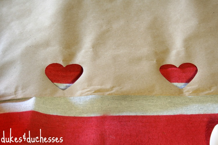 paper punched table runner