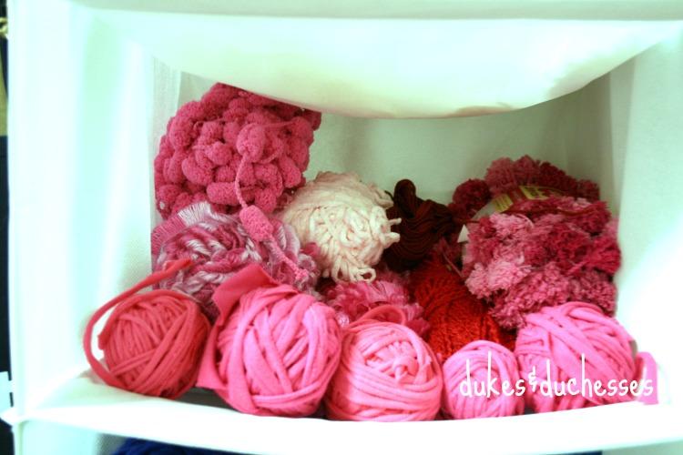 storing yarn