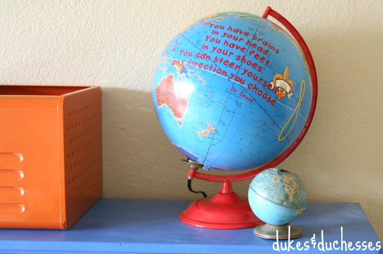 vinyl dr seuss quote on globe