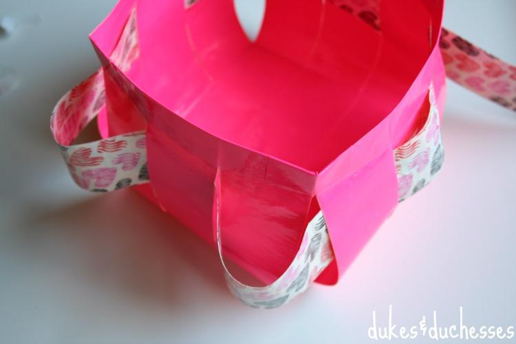 woven duck tape basket