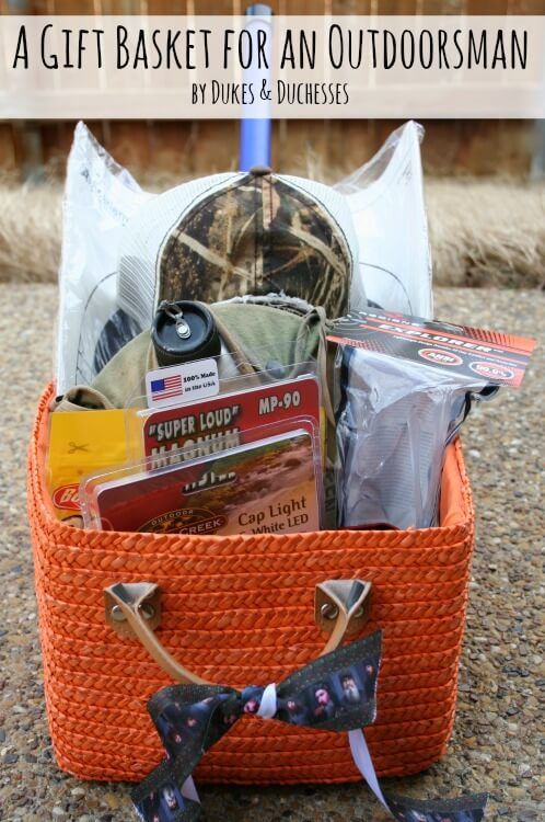 gift basket for an outdoorsman - Christmas Gifts For Outdoorsmen