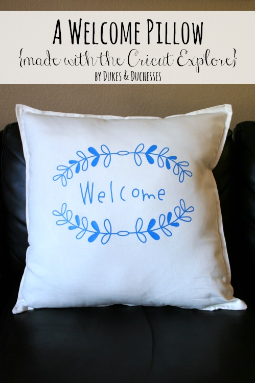 a welcome pillow