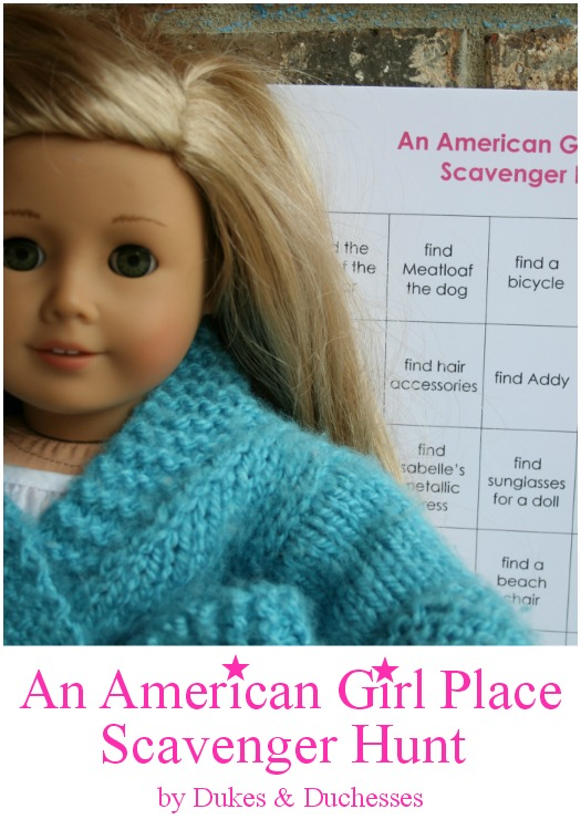 an american girl place scavenger hunt