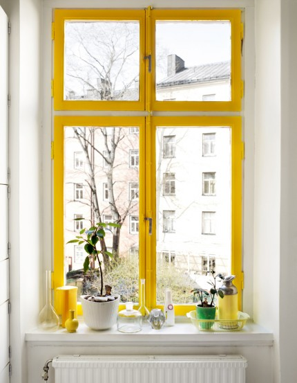 color. painted window frame