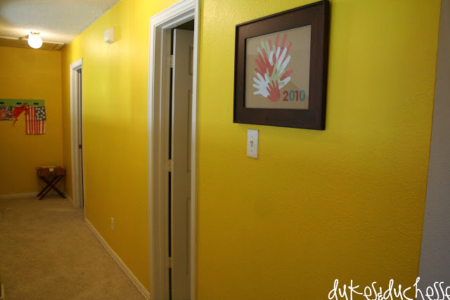 color. yellow hallway