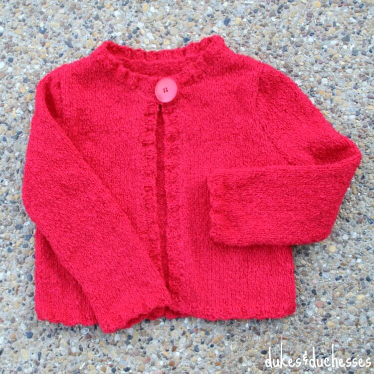 finished knit cardigan