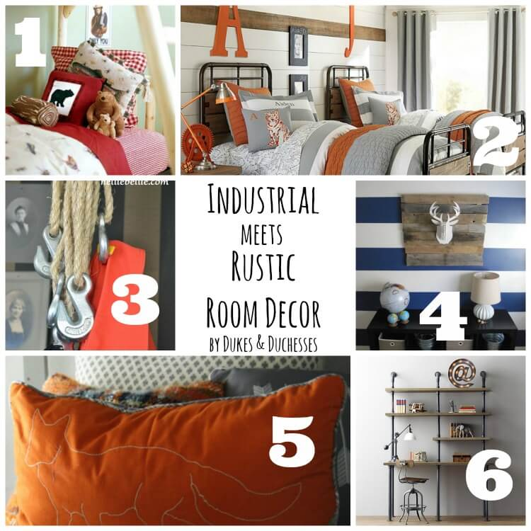 industrial meets rustic room decor