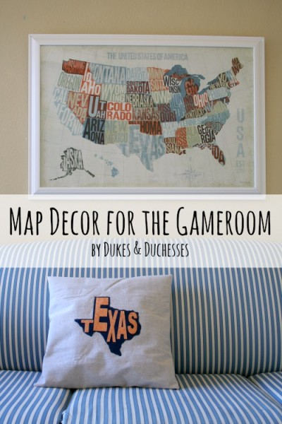 map decor for the gameroom