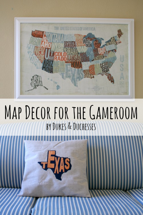 Dukes & Duchesses Map Decor for the Gameroom