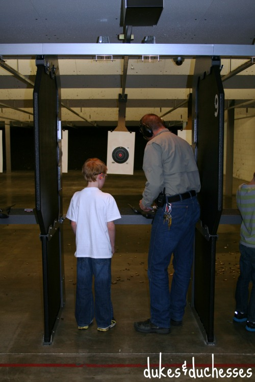shooting on the range