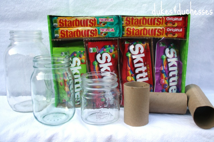supplies for candy-filled vases