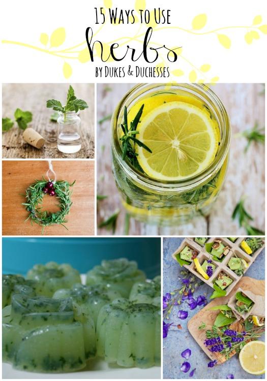 15 ways to use herbs