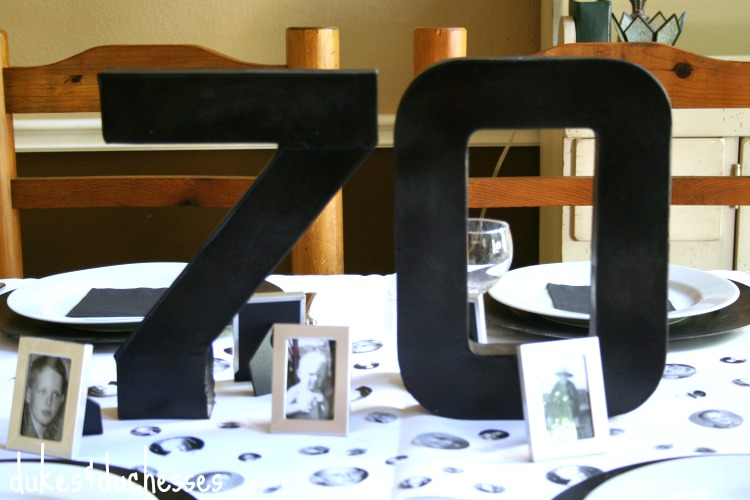 70th Birthday Table Decorations Ideas Image Inspiration of Cake