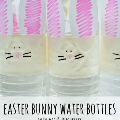 Easter Bunny Water Bottles