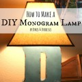 how to make a DIY monogram lamp