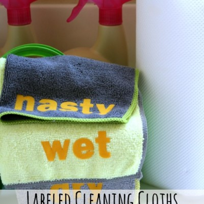 Labeled Cleaning Cloths {My Healthy Home}