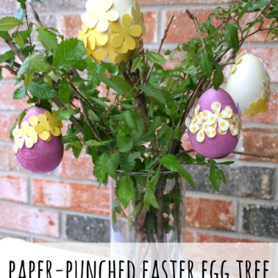 Paper-Punched Easter Egg Tree