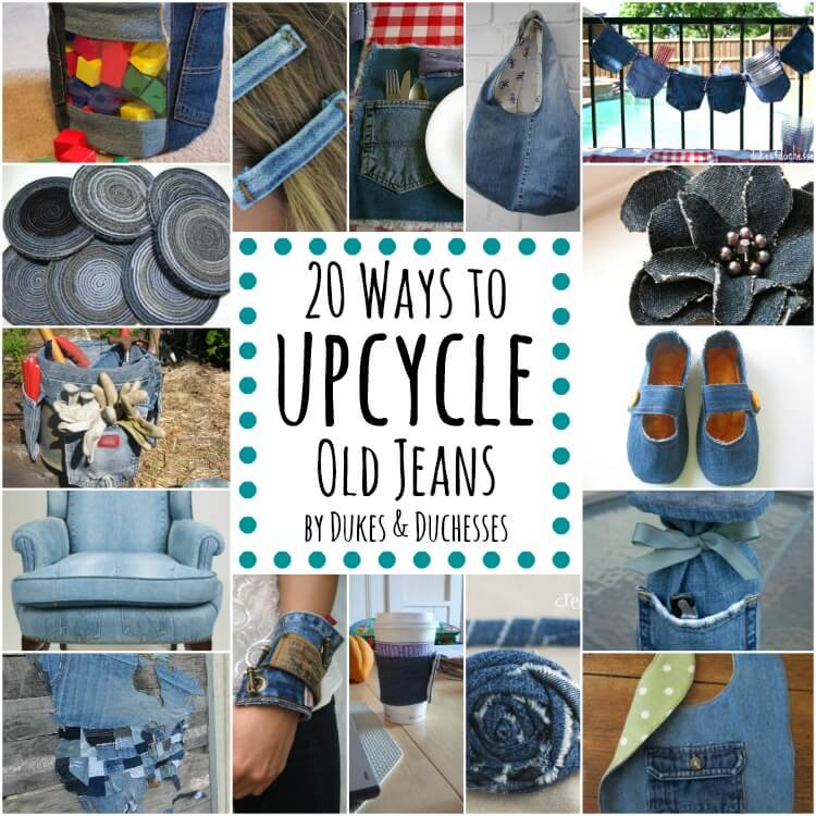 20 Ways To Upcycle Old Jeans Dukes And Duchesses
